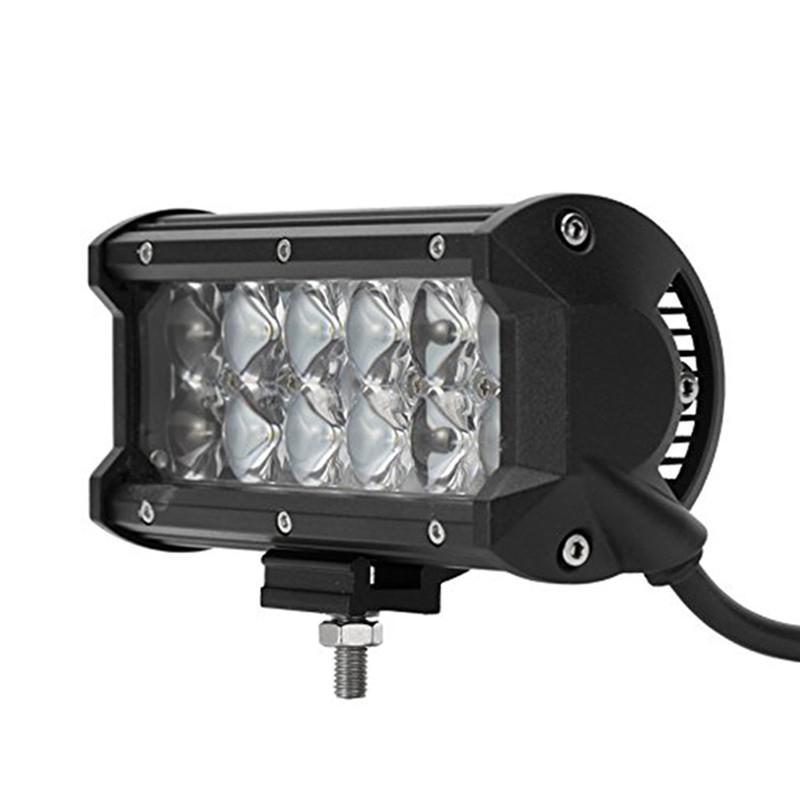 36W Car LED Work Light Bar 12V 24V Spot 4D Lens DRL for ATV 4X4 Truck Offroad Trailer Jeep Automobiles Driving Fog Lamp Lights