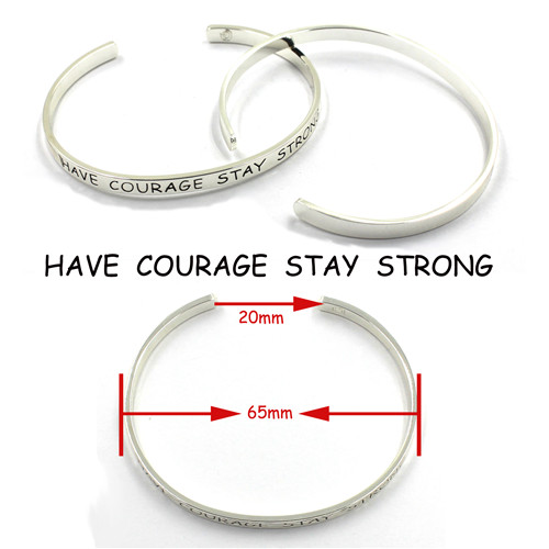 Fashion 316 Stainless Steel Charm Friendship Cuff Bracelets