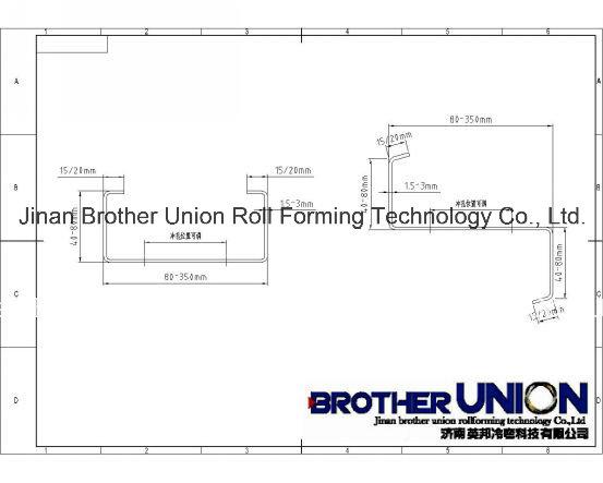 C/U/Z/M Heavy Steel Frame Profile Production Line