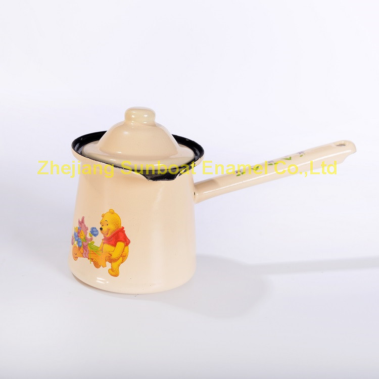 European Style 725ml Enamel Coffee Pot/Teapot with Lid