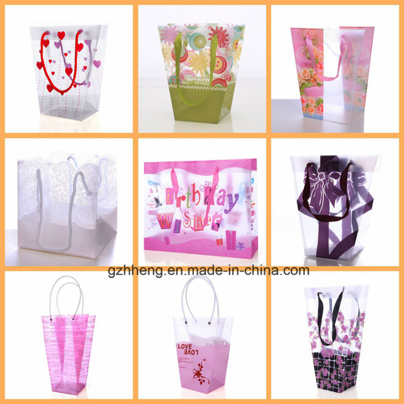 Sell Plastic Shopping Bag with Clip Handle (PVC/PE bag)