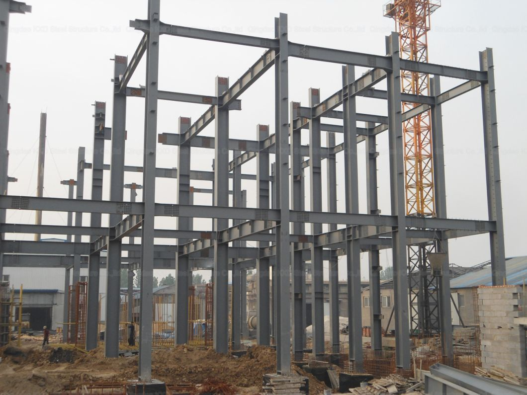 Light Prefabricated Steel Structure Auto Parts Facotry