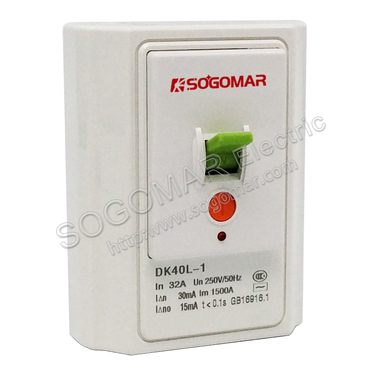 86X110mm White Contactor for Leakage Protecting with 32/40A