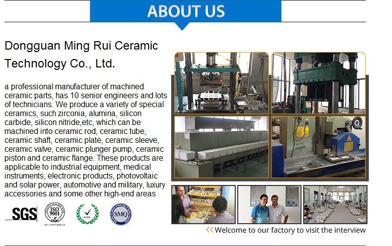 Technical Ceramic Wear Resistant Al2O3 Alumina Ceramic Valve Manufacturers