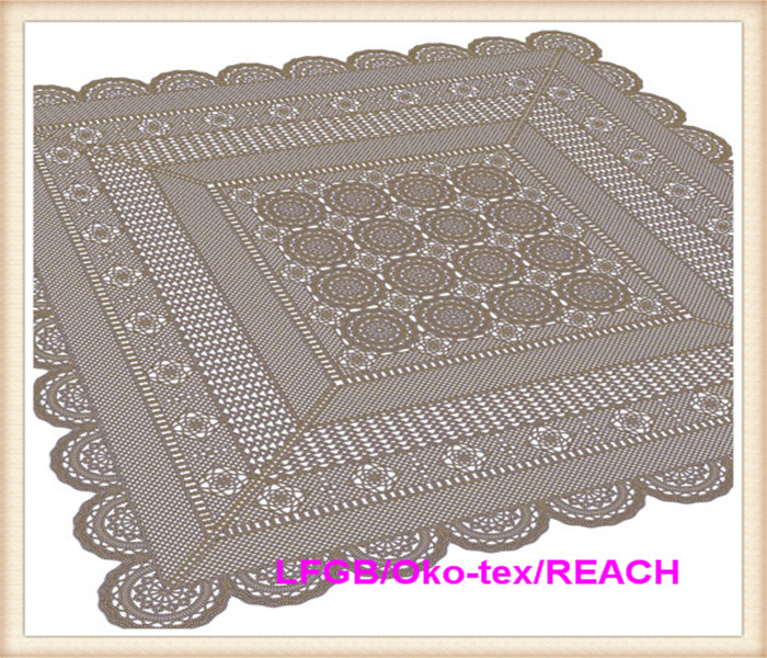PVC/ Vinyl Lace Crochet Tablecloth