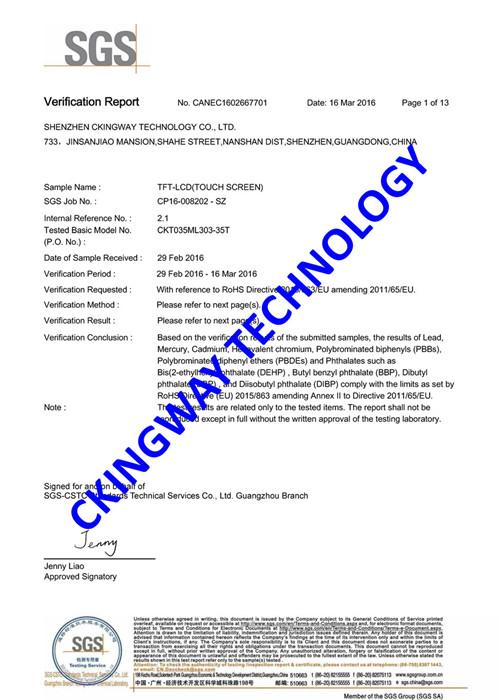 Custom Monochrome FSTN LCD