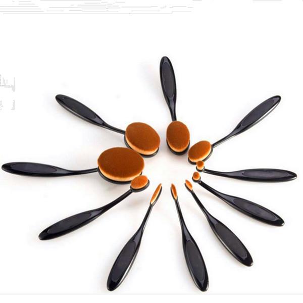 10PCS Eye Blending Cosmetic Brush Wholesale Oval Makeup Brush