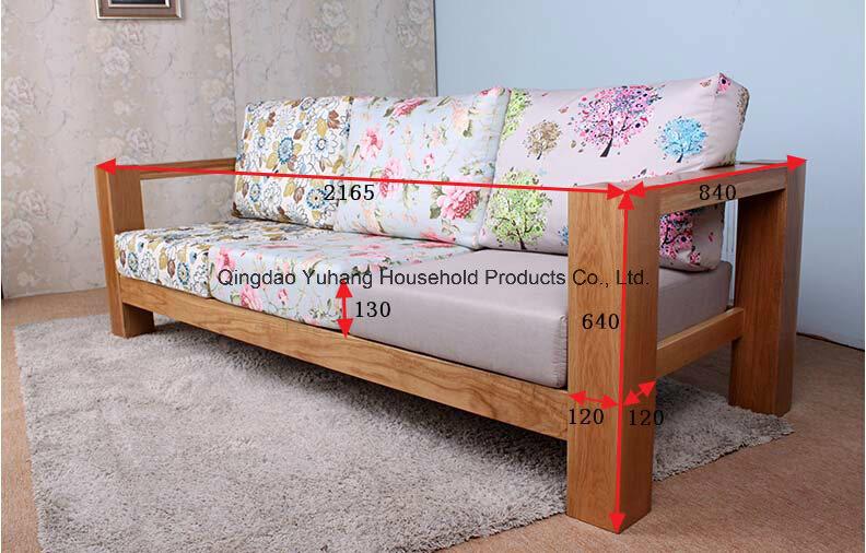 Solid Oak Wood Sofa with Good Quality (M-X1158)