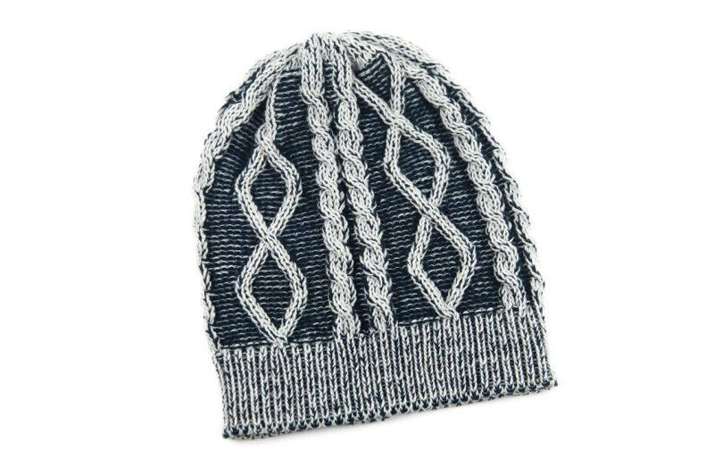 Unisex Knitted Cable Print Jacquard Winter Warm Hat Beanie (HW151)