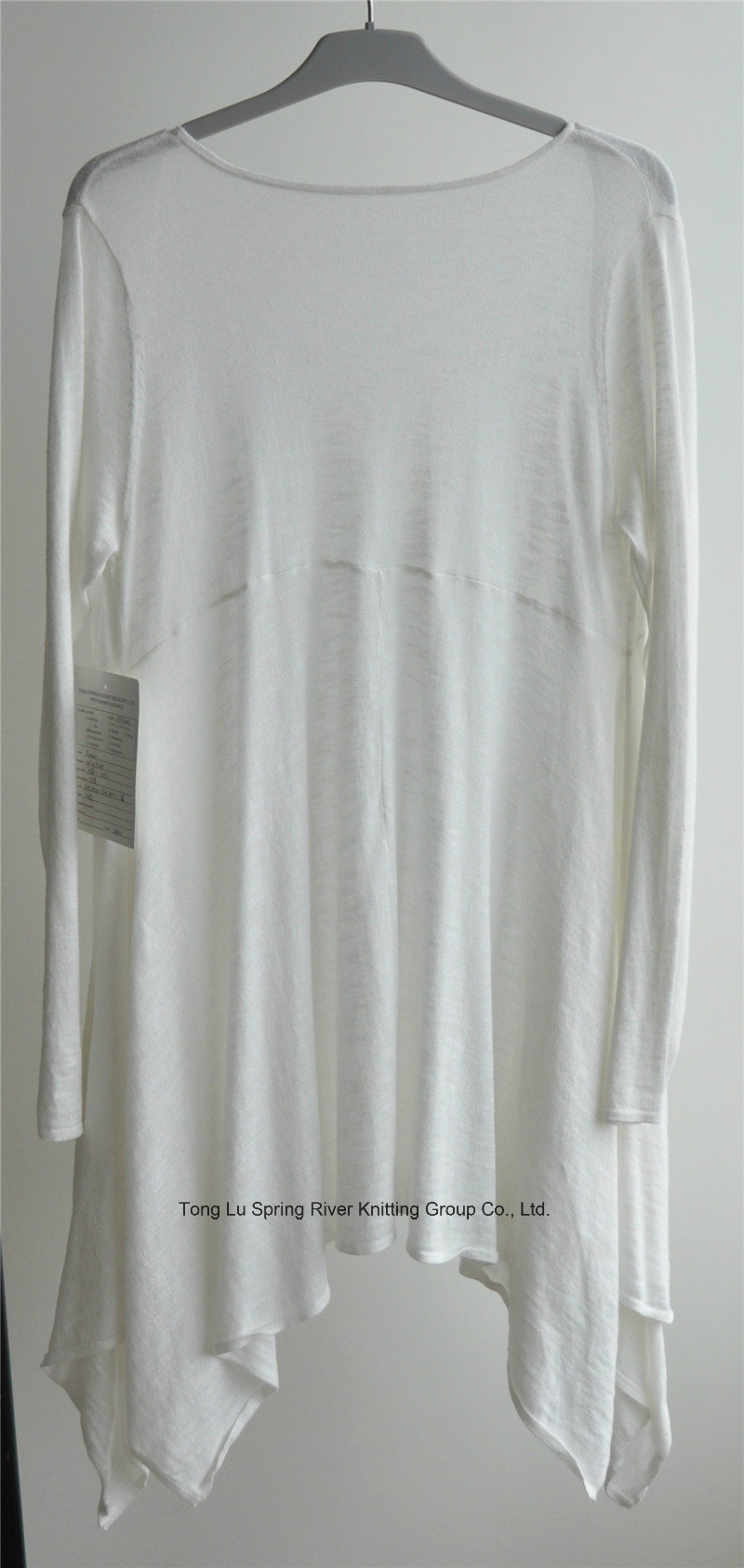100%Cotton Women Longline Opean Pure Color Knit Cardigan