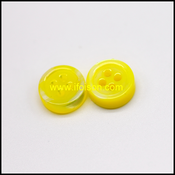 River Shell Button with Enamel Yellow color