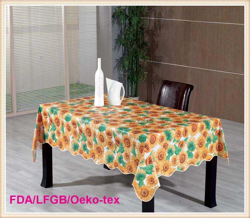 Waterproof Printed PVC Fancy Wedding Table Cloths