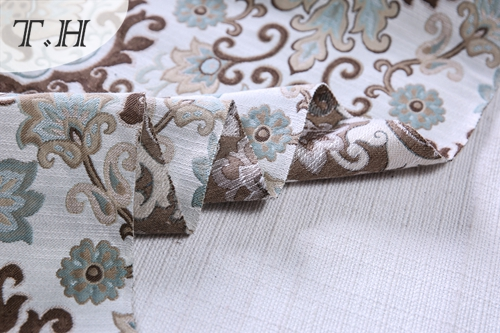 100% Polyester Floral Jacquard Sofa Cover Material