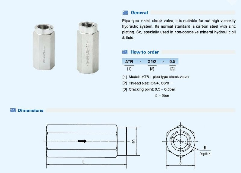 Hydraulic High Pressure Carbon Steel Check Valve