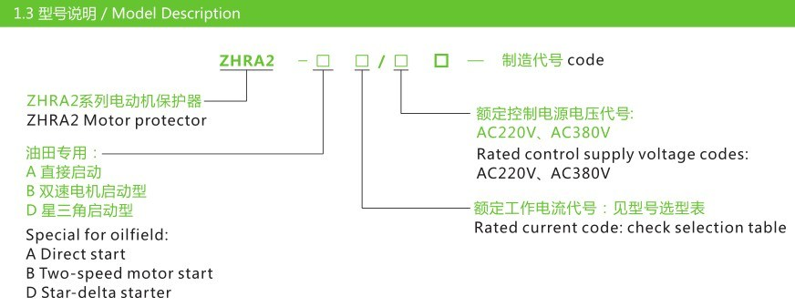 Zhra2-a, B, D Special for Oilfield Motor Protector