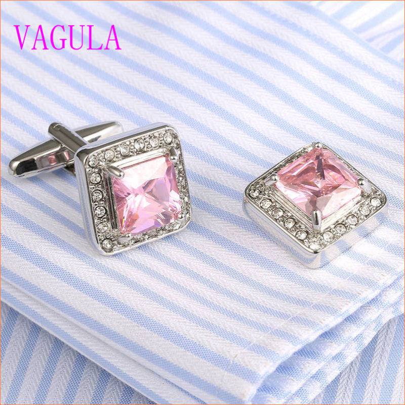 VAGULA Luxury Stylish Men French Shirt Zircon Cuff Links 337