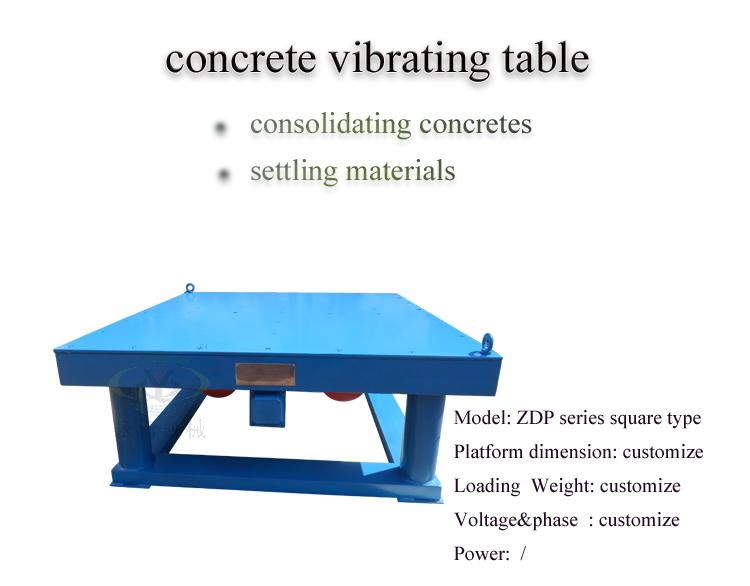 Concrete Vibrating Table Machine for Making Interlock Tile/Paver Block