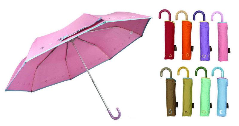 Butterfly Print 3 Fold Windproof Aluminium Umbrella (YS-3FM21083944R)