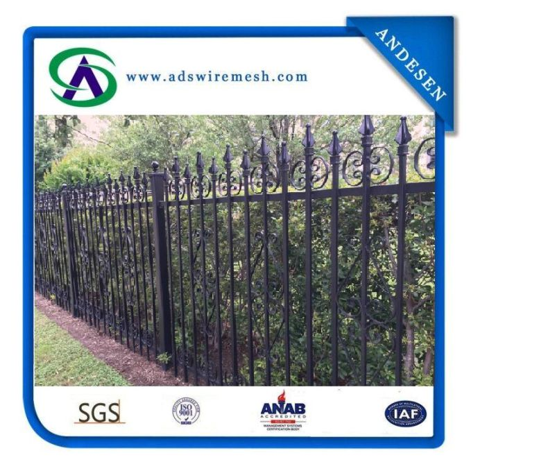 Welded Wrought Iron Fences/ Australia Strength Safety Welded Steel Fence