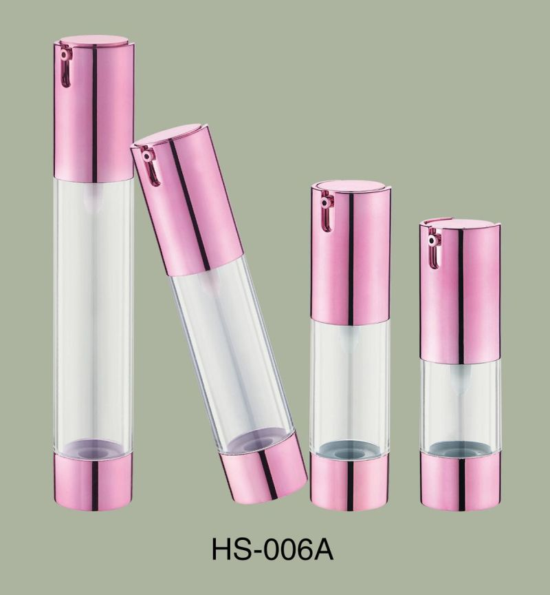 PP Material Pink Color Girl Using Cosmetic Airless Bottle with Lotion Pump