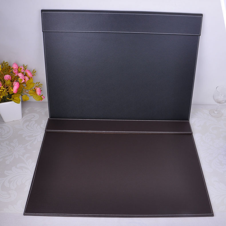 PU Leather Desk Pad with Top Panel