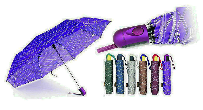Grooved Print Compact Windproof Duomatic Umbrellas (YS-3FD33083972R)