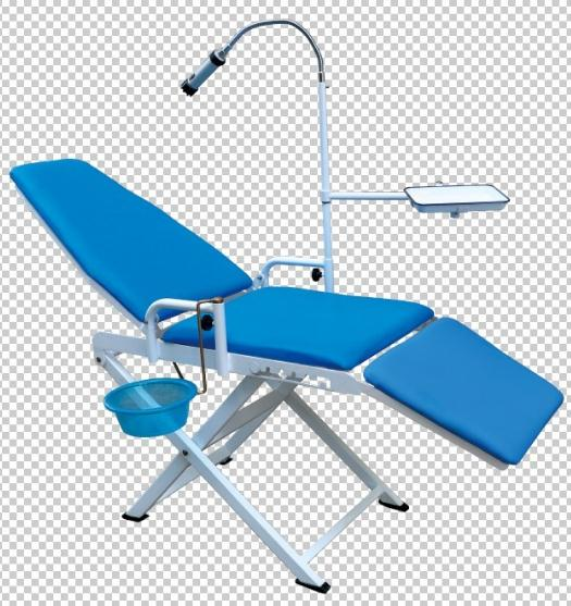 Portable Dental Chair + LED Light with Battery
