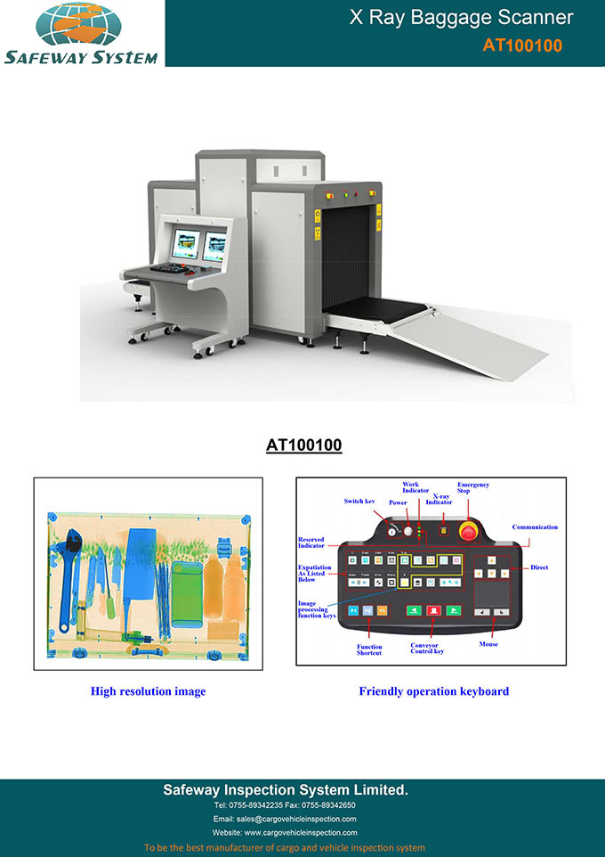 Large Cargo Security Access Control X Ray Baggage Inspection Scanner X-ray Machine