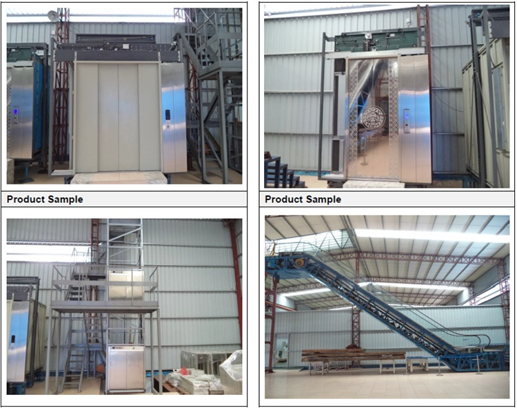 Large Capacity Safe Goods Freight Elevators