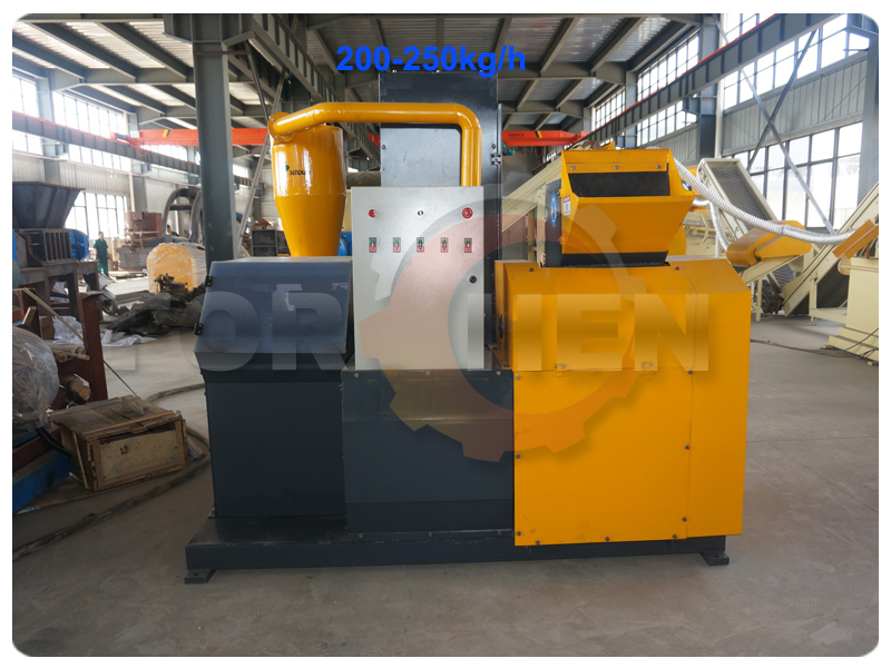 1000kg/H Scrap Copper Cable Wire Separator Machine