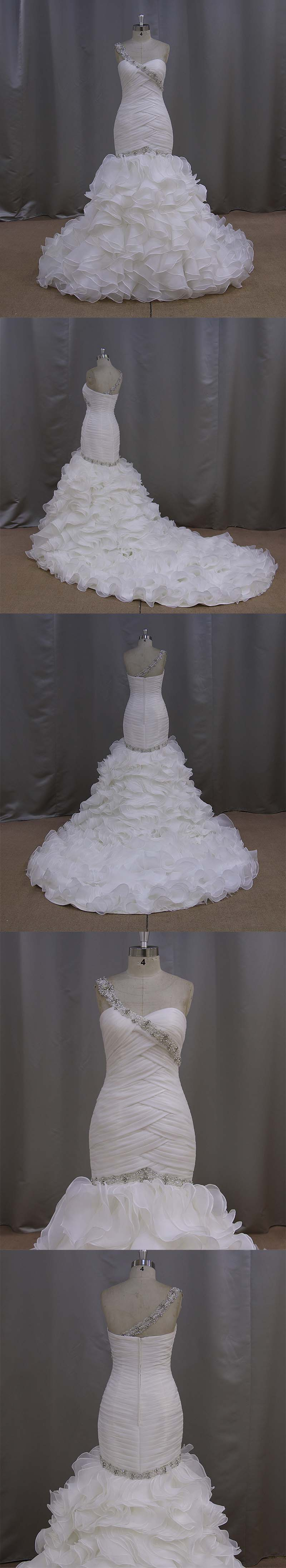 Organza Wedding Dress Organza Ruffles Skirt