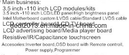 55 Inch LCD Panel LCD Monitor LC550dun-Pgp1resolution 1920 (RGB) X1080 (FHD)