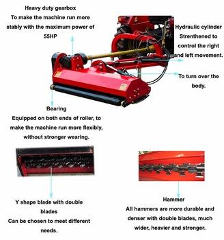 High Quality Heavy Verge Efgl Flail Mower with Hydraulic Arm