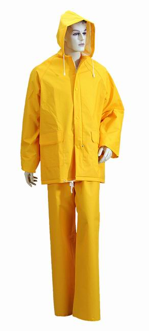 Colorful PVC / Polyester Waterproof Adult Rainwear / Rainsuit