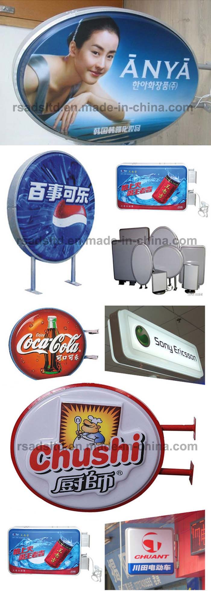 OEM Vacuum Forming Plastic Double Side Outdoor Advertising Light Box