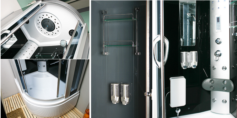 Luxury Shower Room Fitting Shower Enclosure (LTS-9912L/R)