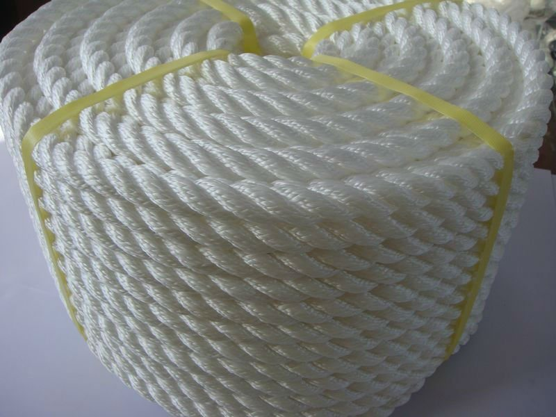 High Strength 3-Strand Polypropylene Twisted Marine Ropes