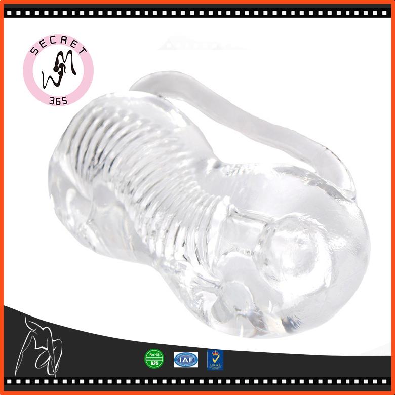 Transparent Silicone Male Masturbator Penis Trainer Sex Products Pocket Pussy Stroker Masturbation Cup Sex Toys for Men