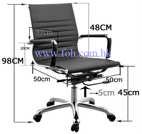 Medium Back White Eamse Chair Swivel Office Chair (FOH-MF11-B09)