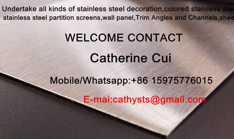 Hot Sale Stainless Steel Bronze Color Finish Mirror or Brushed 304 316 Grade 1219*2438mm Standard Size