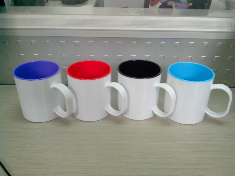 Sublimation Plastic Mug, Two Tone Sublimation Plastic Mug