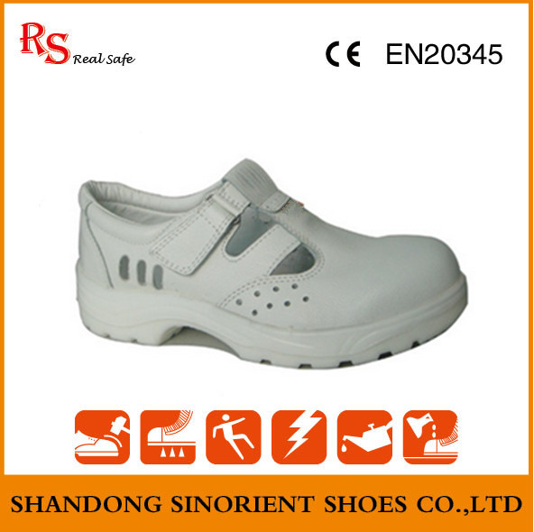 White Micro Fiber Leather ESD Safety Shoes RS267