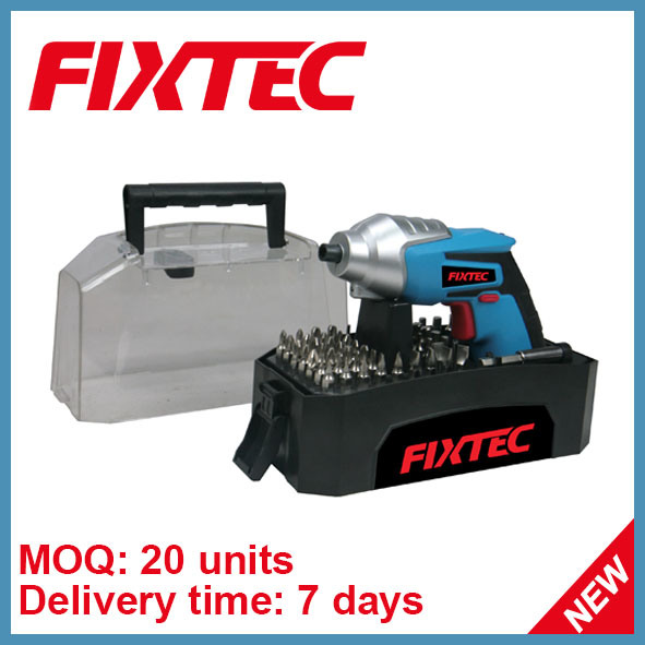 Fixtec Power Tool 4.8V Cordless Screwdriver with Ni-CD Battery