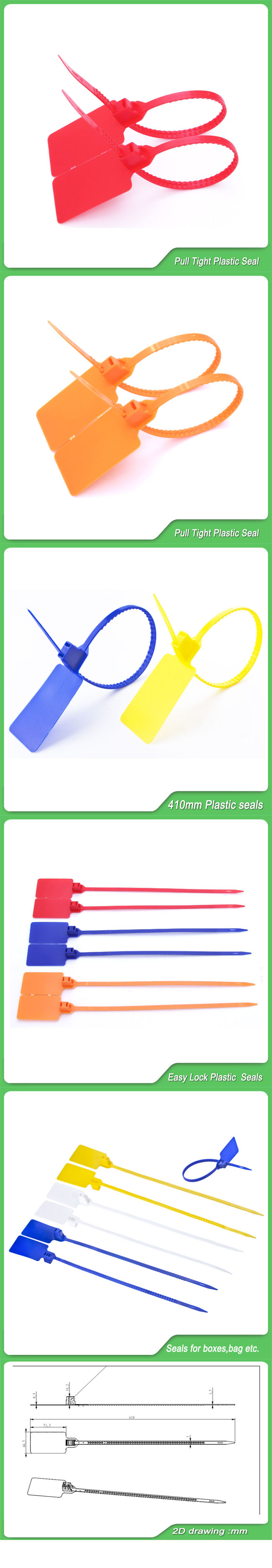 Safety Seal (JY-410S) , Pull Tight Plastic Security Seal