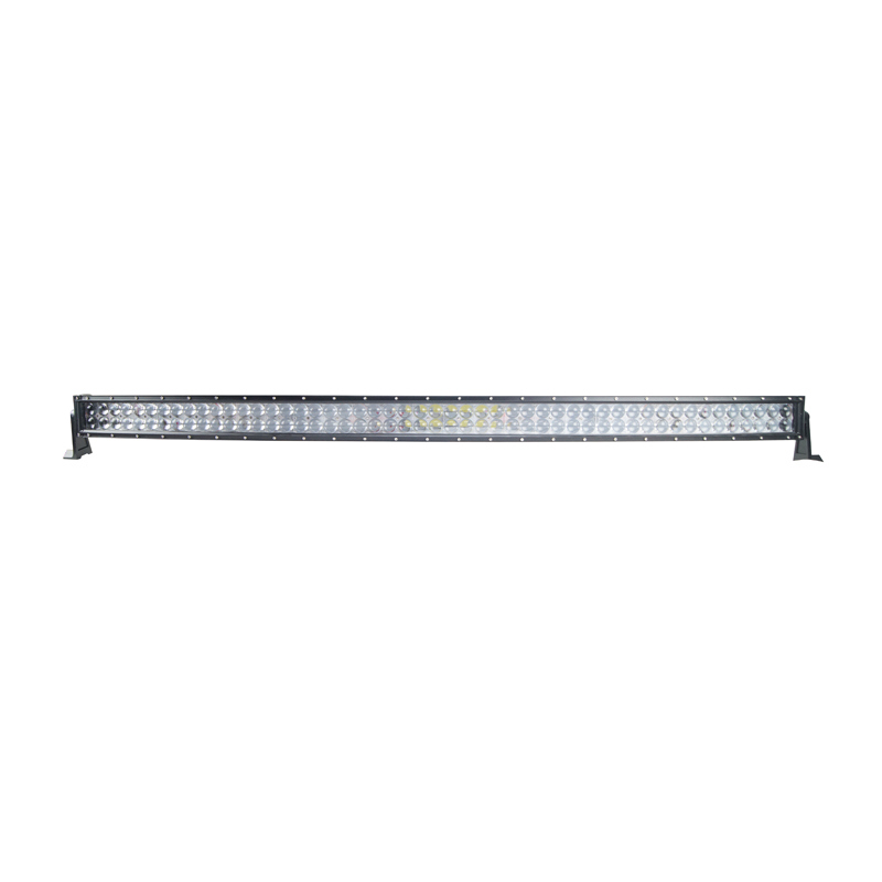 300W 4D Lens Double Row LED Offroad Curved Light Bar