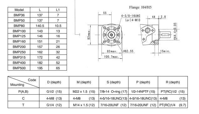Shantui Compact Cycloid Hydraulic Motor BMP-50 Omp50