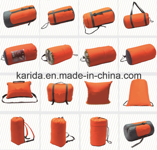 Polyester Mixed Color Cap Envelop Camping Sleeping Bag Sb2010