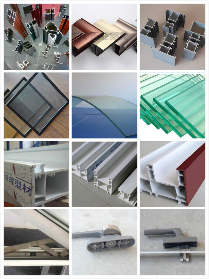 Double Glass Plastic Vinyl Window UPVC Manufacturer Factory Price