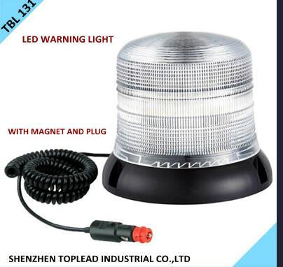 Clear High Power LED Strobe Beacon, Auto Emergency LED Light, Round LED Beacon, Waterproof Magnetic Warning Light