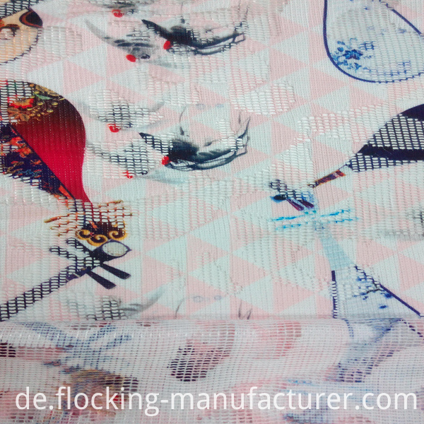 Fashion Polyester Printed Mesh Net Garment/ Home Textile Fabric